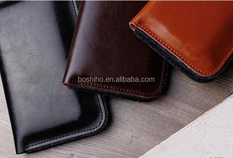Accept Customer' Design Genuine Leather & Wool Felt Flip Case for iPhone 6 4.7 inch For iPhone 6 Plus 5.5 for iphone bag