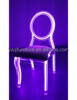 High quality modern acrylic led chair