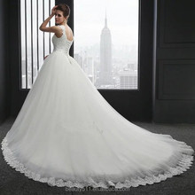 Collection popular bridal dress Short sleeves Scoop neckline wedding dress lace ED542
