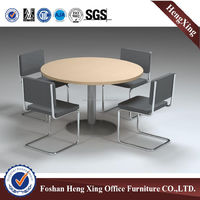 Home & Office Study Table Aluminum Structure Meeting Desk Anti-water Wooden Conference Table (HX-MT8003)