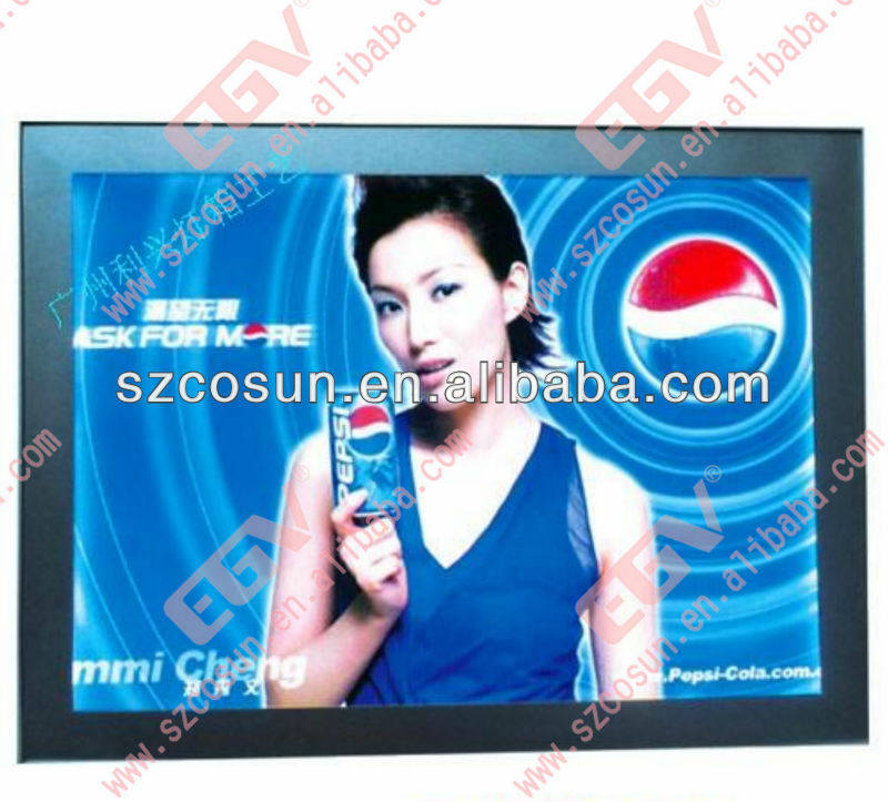 2013 new advertising products led snap frame light box