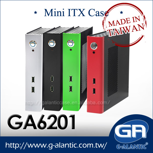 GA6201 Industrial Computer Mini PC Thin Computer Case With Wireless Mainboard