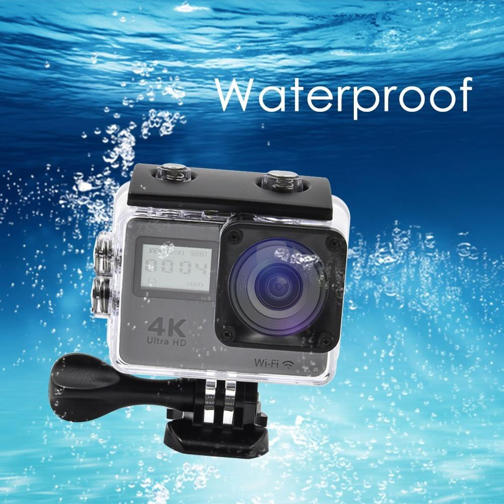 Dual Screen 2.0 inch HD WiFi Mini Touch screen Action Camera 4K go Pro style 4K Sport camera with remote controller