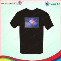 el t shirt wholesale alibaba t shirt light sound sensor light for t shirt