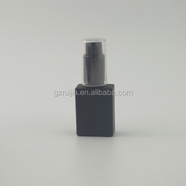 High quantity black matt/frosted rectangle glass dropper bottle 30ml glass bottle for syrup dropper bottle