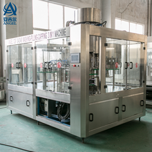 Zhangjiagang high quality Glass Bottle Beer/wine/liquid washing filling capping Machine/equipment with lower factory price