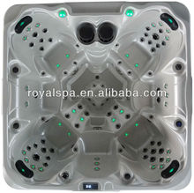 Hot sale USA acrylic 7 persons massage hot tub