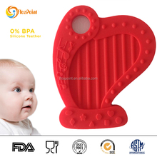 BPA PVC free Chewy Silicone Teething Necklace Mother Day Wholesale Gifts