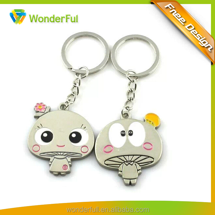 Fashion DIY Zinc alloy lovers Key ring sweet heart keychain Cartoon style key chain