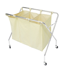 Compartment Wheeled Folding Laundry Hamper