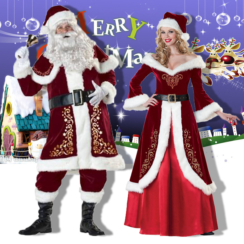 christmas costume men santa csanta adult claus costume christmas