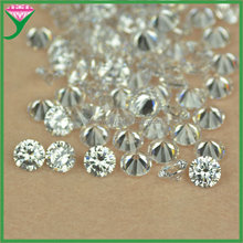 alibaba supplier high grade round shape white machine cut man made synthetic rough zircon diamond