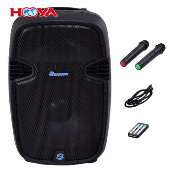 "Portable 15"" 1000W Rechargable Battery Powered Speaker DJ/PA System"