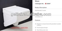 stock ceramic white color wall hung toilet