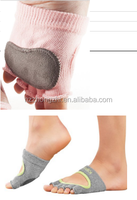 best selling five toe half foot yoga socks with leather