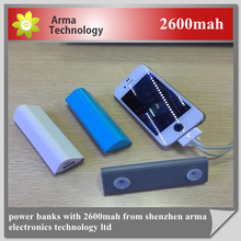 power bank with suction cup waterproof power bank 2600mah