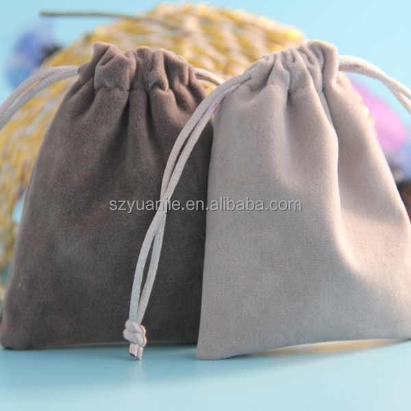 china factory direct discount custom faux suede jewelry pouch