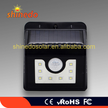 Hot Sell 8Led Solar powered Motion Sensor Garden Decorative Light for Street