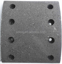 Semi-mental brake lining for semi-trailer