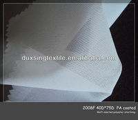 40D*75D 100% polyester woven knitting soft interlining