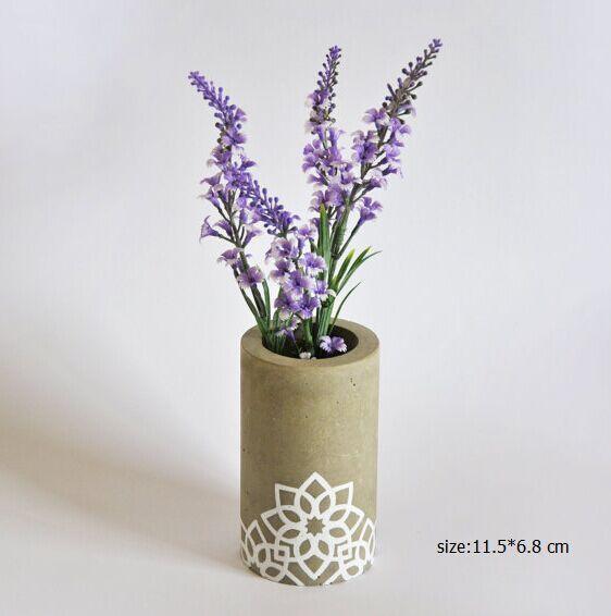 Home deco table center piece concrete plant pots cement wedding vase