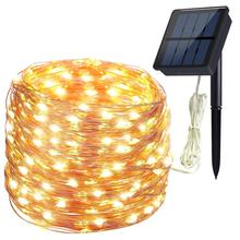 200LED 72ft Silver Solar string Light Outdoor Copper wire string light for Christmas Wedding Garden Party