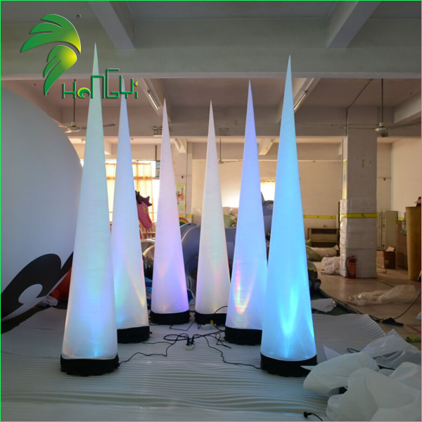Multi-color LED Outdoor Event Decoration Inflatable Air Cone Pillar Balloon