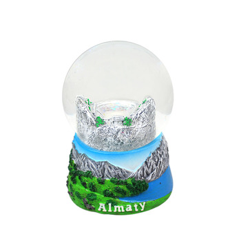tourist gifts of glass water globe