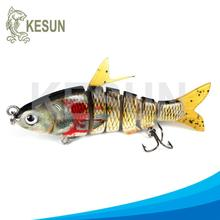 Private label CH6J05F multi jointed pike lures ABS plastic