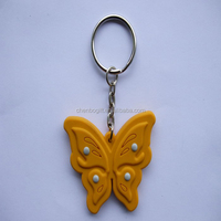 promotional item cartoon custom butterfly 3d soft pvc keychains