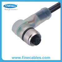 NPN IP67 Waterproof 3 Pins Female Xlr Connector With Led Indicator