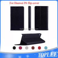hot sale PU leather wallet flip cover for Huawei P6 case