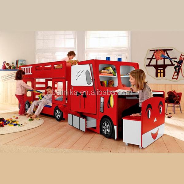 fire engine kids children bunk car bed