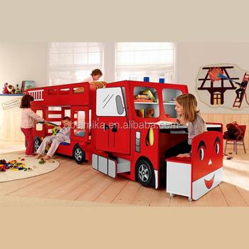 Fire Engine Kids Children Bunk Car Bed - Buy Kids Cars Bunk Beds,Kids Children Bunk Car Bed,Kids ...