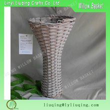 Factory wholesale round vintage willow/wicker basket flower basket/vase