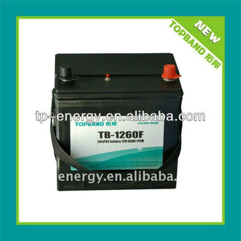 excellent performance lifepo4 auto battery 12V 60Ah