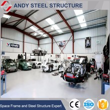 Prefab Steel Structure Auto Car Repair Workshop Design