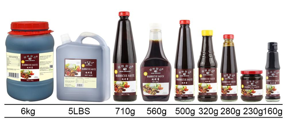 Wholesale 495g BBQ Sauce Barbecue Sauce in Plastic Bottle