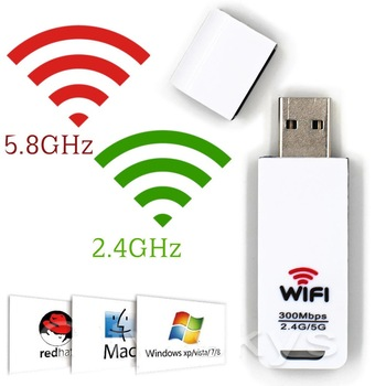 300Mbps dual band Ralink RT5572 Wlan stick Mini USB Wireless Adapter Dual Band 2.4GHz 5GHz WiFi Dongle