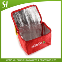 wholesale insulated lunch bag/cooler bag for frozen food/promotional wine cooler bag