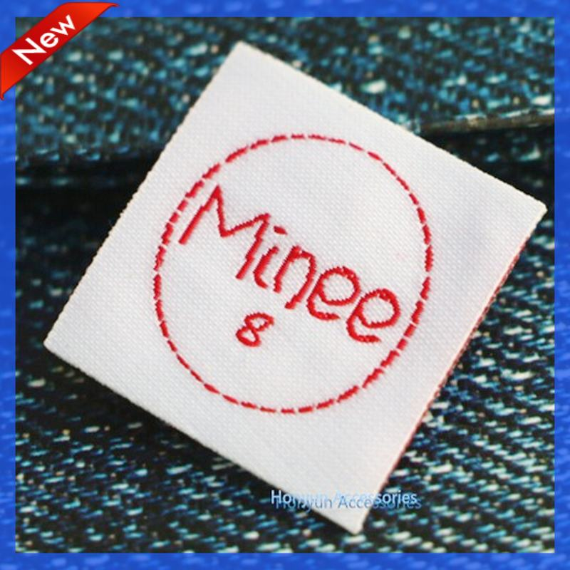 woven iron on clothing labels