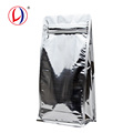 Eco Friendly Reusable Box Bottom Ziplock Aluminum Coffee Bag For Wholesale