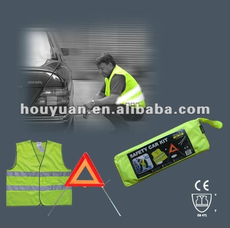 car emergency tool set with reflective vest