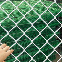 Hot Dipped Galvanised 8 gauge steel chainlink fence rolls used chain link fence for sale