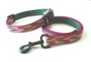 Dog collar & leashes jacquard webbing pet adjustable products