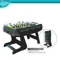 Foosball Table with Folding Leg