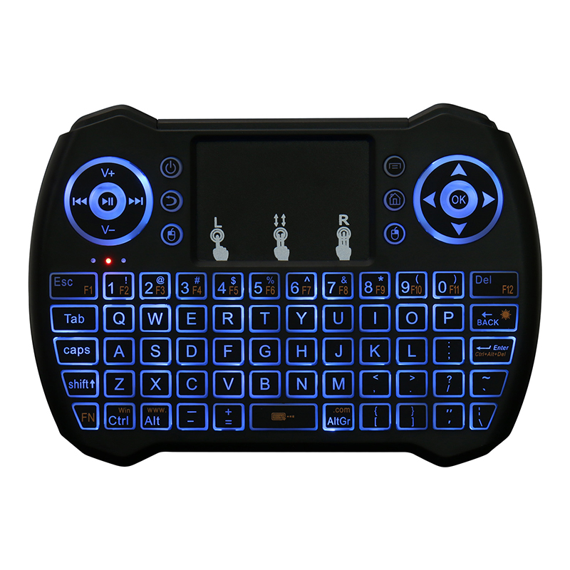 Fly Mouse MultiFunction Mini Wireless Keyboard With Touchpad Mouse 2.4G Wireless Keyboard