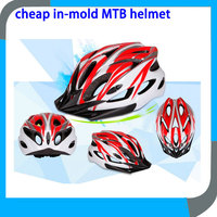 cheap in-mold MTB cycle helmet with sun visor for track