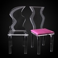 dongguan supplier clear acrylic ghost chair with fur