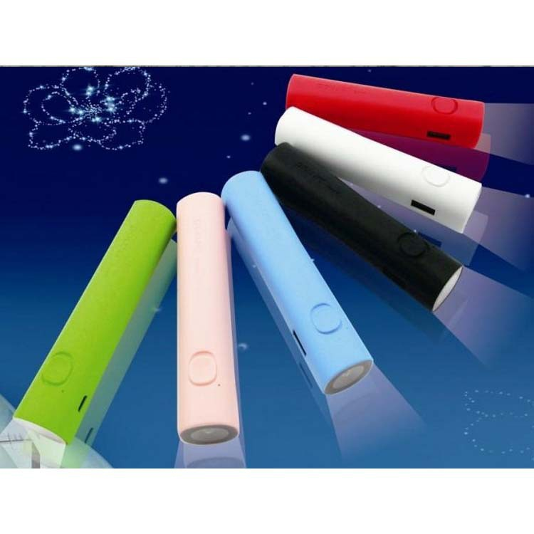 2000 2200 2600mAh promotion gifts torch light 18650 cell power bank